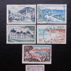 Sellos: FRANCIA 1954, SERIE TURÍSTICA (O). Lote 83833268