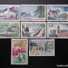 Sellos: FRANCIA 1961, SERIE TURÍSTICA, YVERT 1311 Y 1318 (*O). Lote 84398416
