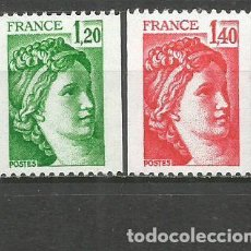 Sellos: FRANCIA YVERT NUM. 2103/2104 ** SERIE COMPLETA SIN FIJASELLOS. Lote 268995634