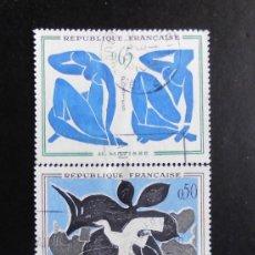 Sellos: FRANCIA 1961, ARTE FRANCES, YVERT 1319 AL 1321 (O). Lote 84656372
