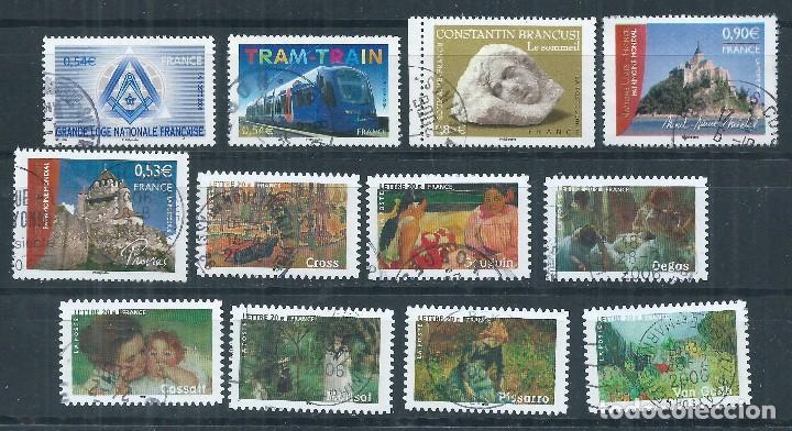 R16/ FRANCIA USADOS 2006, 12 SELLOS, CON MATASELLOS REDONDO (Sellos - Extranjero - Europa - Francia)