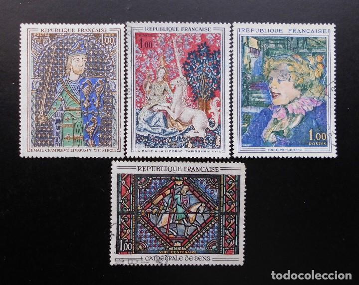 FRANCIA 1964, OBRAS DE ARTE , YVERT 1424 AL 1427 (O) (Sellos - Extranjero - Europa - Francia)