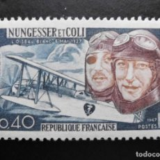Sellos: FRANCIA 1967, NUNGESSER Y COLI, YVERT 1523 (O). Lote 85066160