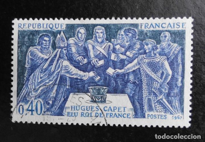 FRANCIA 1967, HISTORIA DE FRANCIA, YVERT 1537 AL 1539 (O) (Sellos - Extranjero - Europa - Francia)