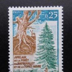 Sellos: FRANCIA 1968, FORESTACIÓN, YVERT 1561 (O). Lote 85072528