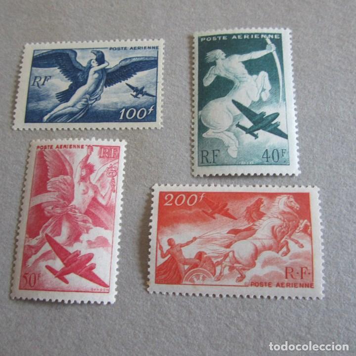 FRANCIA 1946-1947 YVERT Nº 16/19**, AEREO, MITOLOGIA (Sellos - Extranjero - Europa - Francia)