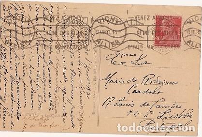 FRANCIA & POSTALE, LES QUAIS DE ALLIER, VICHY PARA LISBOA 1930 (422) (Sellos - Extranjero - Europa - Francia)