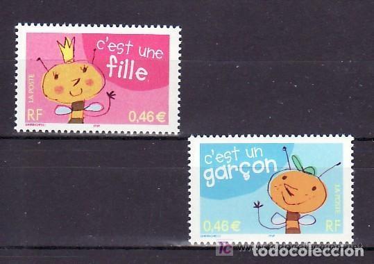 FRANCIA 2002 IVERT 3463/4 *** SELLLOS DE NACIMIENTO (Sellos - Extranjero - Europa - Francia)