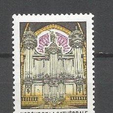 Selos: FRANCIA 1994 IVERT 2890 *** ORGANO DE LA CATEDRAL DE POITIERS - MUSICA. Lote 89290324