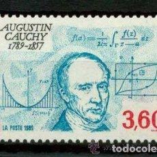 Sellos: FRANCIA 1989 IVERT 2610 *** BICENTENARIO NACIMIENTO DEL MATEMÁTICO AUGUSTIN CAUCHY . Lote 91614120