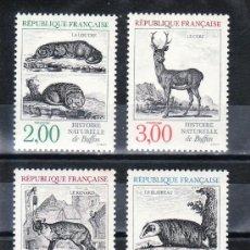 Sellos: FRANCIA 1988 IVERT 2539/42 *** NATURALEZA DE FRANCIA - FAUNA - ANIMALES HISTORIA NATURAL DE BUFFON. Lote 91844100