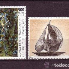 Sellos: FRANCIA 1987 IVERT 2493/4 *** ARTE - PINTURAS DE CAMILLE BRYEN Y ANTOINE PEVSNER. Lote 91943660