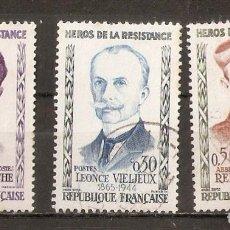 Sellos: FRANCIA. 1960. YV.Nº 1250,1251,1252. Lote 93099830