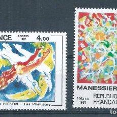 Sellos: R18/ FRANCIA NUEVOS ** MNH, Y&T 2168/69, 1981. Lote 94363046