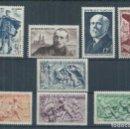 Sellos: R18/ FRANCIA NUEVOS ** MNH, Y&T 859/66, 1949-50. CATALOGO 19,60€. Lote 95157199