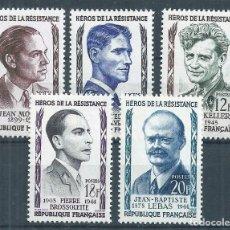 Sellos: R18/ FRANCIA NUEVOS ** MNH, Y&T 1100/104, 1957. Lote 95422479