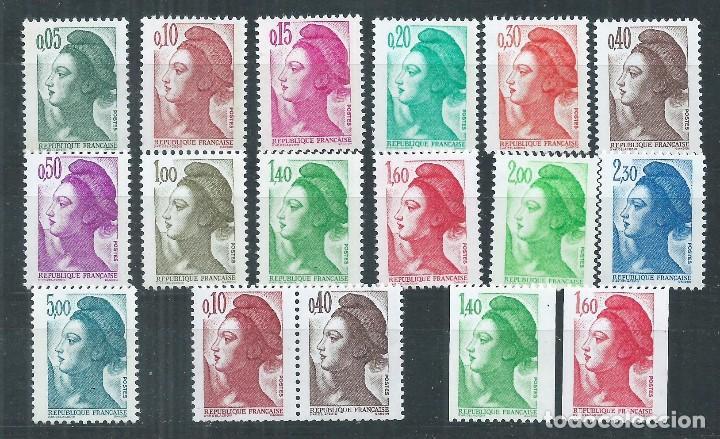 R18/ FRANCIA NUEVOS ** MNH, Y&T 2178/92, 1982 (Sellos - Extranjero - Europa - Francia)
