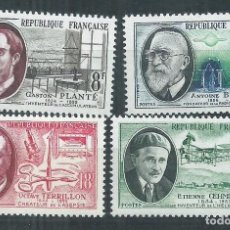 Sellos: R18/ FRANCIA NUEVOS ** MNH, Y&T 1095/98, 1957. Lote 95675151