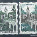Sellos: R18/ FRANCIA NUEVOS ** MNH, Y&T 1105/06, 1957. Lote 95682035