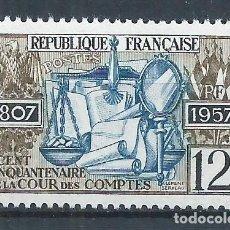 Sellos: R18/ FRANCIA NUEVOS ** MNH, Y&T 1107, 1957. Lote 95693899