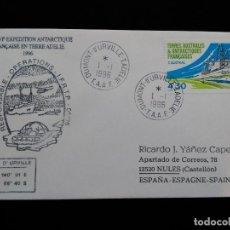 Sellos: SOBRE CON SELLO Y MATASELLOS. ANTARTIDA FRANCESA. 1996.. Lote 95839935