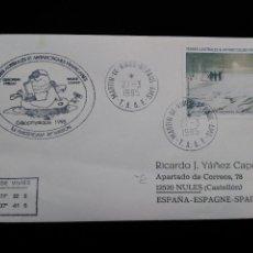 Sellos: SOBRE CON SELLO Y MATASELLOS. ANTARTIDA FRANCESA. 1995. MARTIN VIVIES. Lote 95842863