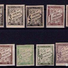 Sellos: FRANCIA - COLONIAS FRANCESAS - TAXE CHIFFRE PERCEVOIR - SIN DENTAR - LUJO CAT 145 € SALIDA 1 EURO. Lote 96510379