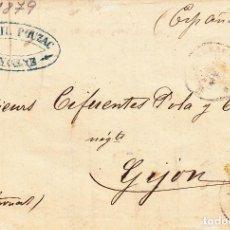Sellos: CARTA: BAYONNE - GIJON - 1879 - SELLO FRANCIA 25 CTM. Lote 97953371