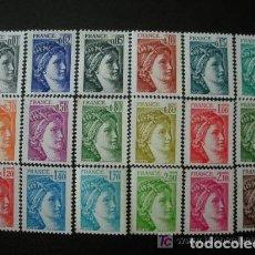 Sellos: FRANCIA 1977-78 IVERT 1962/79 *** SABINA - PINTURA - LUIS DAVID. Lote 101985707