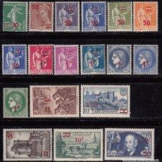 Sellos: 1940 - 1941 YVERT Nº 476 / 493 / ** / . Lote 103550691