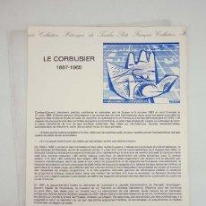 Sellos: COLLECTION HISTORIQUE DE TIMBRE 16-87. LE CORBUSIER 1887-1965 POSTE FRANÇAIS, 1987. Lote 103692028
