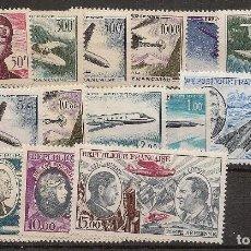Sellos: FRANCIA AÑO COMPLETOS 1955/1973 CORREO AÉREO YVERT 34/38**MNH NL357. Lote 104282799