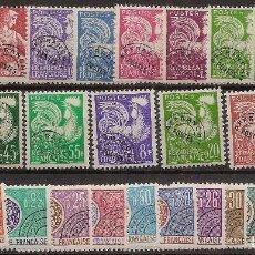 Sellos: FRANCIA AÑO COMPLETOS PREOBLITERADOS 1953/1971 YVERT 106/133**MNH NL366. Lote 104283087