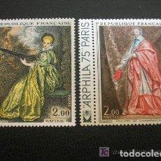 Sellos: FRANCIA 1973 IVERT 1765/6 *** OBRAS DE ARTE - PINTURA. Lote 104779551