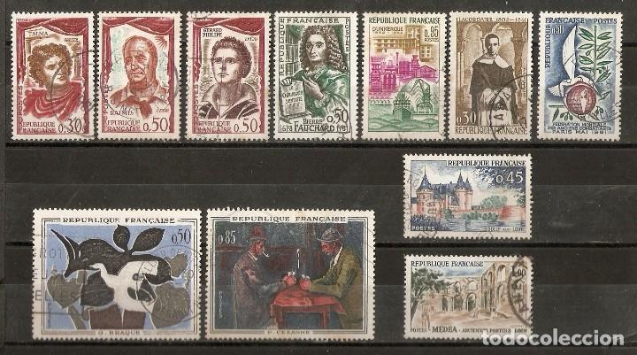 FRANCIA. 1961. LOTE 11 USADOS (Sellos - Extranjero - Europa - Francia)