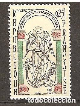 FRANCIA 1966 IVERT 1482 *** MILENARIO DEL MONTE SAINT MICHEL (Sellos - Extranjero - Europa - Francia)