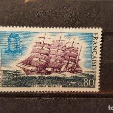 Selos: SELLO NUEVO FRANCIA. CAP HORNIER. ¨ANTOINETTE¨. 10 DE ABRIL DE 1971. YVERT 1674.. Lote 109434843
