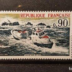 Sellos: SELLO NUEVO FRANCIA 1974. RESCATE EN EL MAR. 27 DE ABRIL DE 1974. Lote 109897959