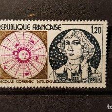 Sellos: SELLO NUEVO FRANCIA 1974. 500 ANIVº NACIMIENTO NICOLAS COPERNICO. 12 DE OCTUBRE DE 1974. Lote 109952763