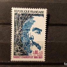 Sellos: SELLO NUEVO FRANCIA 1974. BARBEY D´AUREVILLY (1809-1889) 23 DE NOVIEMBRE DE 1974. Lote 109998031