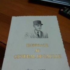 Sellos: SELLOS HOMMAGE GENERAL DE GAULLE 1890-1970 VER FOTOS. Lote 123520095