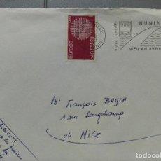 Sellos: CARTA. FLAMA HERALDICA. MATASELLOS DE HUNINGUE. 1970. Lote 111090083