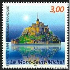 Sellos: FRANCIA 1998 - LE MONT SAINT MICHEL - YVERT Nº 3165**. Lote 111861771