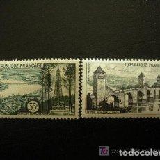 Sellos: FRANCIA 1957 IVERT 1118/9 *** TURISMO - PAISAJES Y MONUMENTOS. Lote 111894599