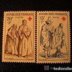 Sellos: FRANCIA 1957 IVERT 1140/1 *** PRO CRUZ ROJA - GRABADOS JACQUES CALLOT. Lote 111896127