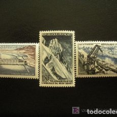 Sellos: FRANCIA 1956 IVERT 1078/80 *** REALIZACIONES TÉCNICAS (I) - CONSTRUCCIONES. Lote 111994403