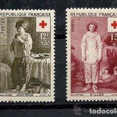 Sellos: FRANCIA 1956 IVERT 1089/90 *** PRO CRUZ ROJA. Lote 111995171