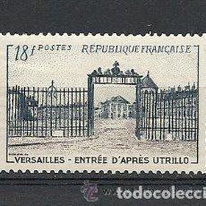 Sellos: FRANCIA 1954 IVERT 988 *** VERJA DE ENTRADA DEL CASTILLO DE VERSALLES - MONUMENTOS. Lote 112246419