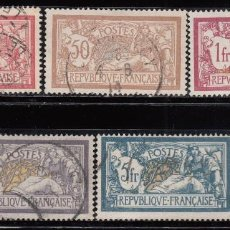 Sellos: FRANCIA , YVERT Nº 119 ,120 ,121 ,122 ,123 . Lote 114036623