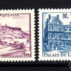 Sellos: FRANCIA 1946 IVERT 759/60 *** PAISAJES Y MONUMENTOS. Lote 115223767